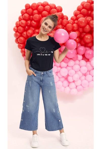Defacto Kadın Çıtçıt Detaylı Denim Pantolon
