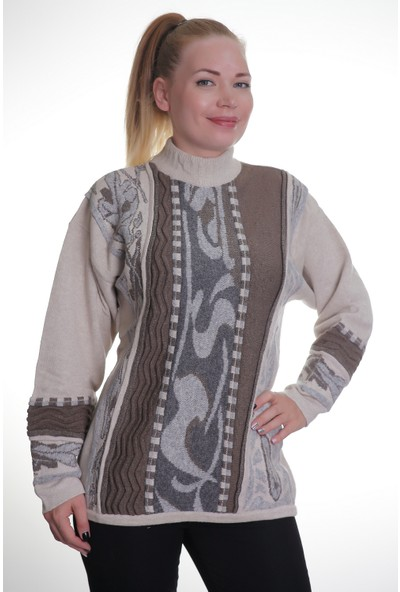 Prensler Kadın Kadın Triko Kazak 8111