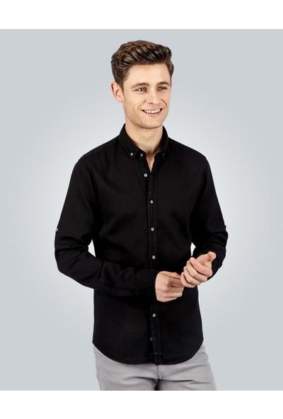 Tudors Slim Fit Denim Erkek Gömlek