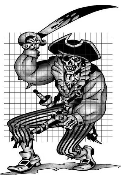 Tatfast Korsan 177 Geçici Dövme - Flash Tattoo