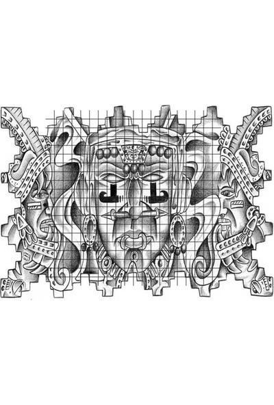 Tatfast Meksika 34 Geçici Dövme - Flash Tattoo