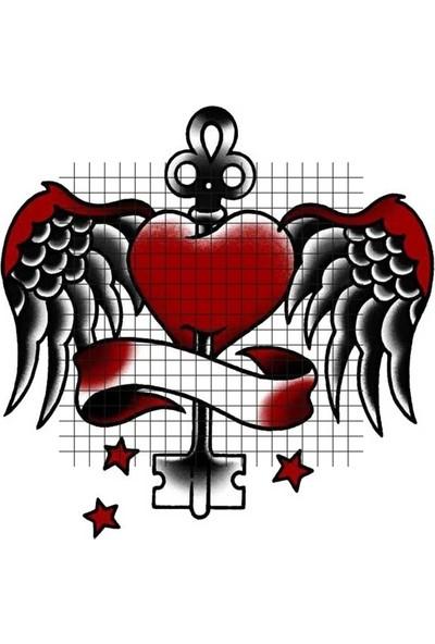 Tatfast Kanat 1007 Geçici Dövme - Flash Tattoo