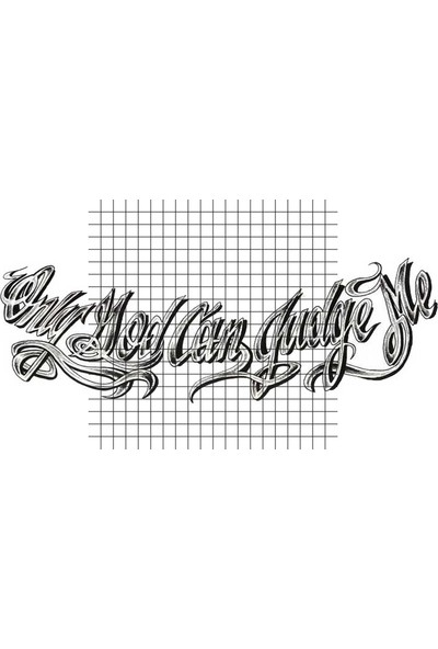 Tatfast Only God Can Judge Me 3 Geçici Dövme - Flash Tattoo