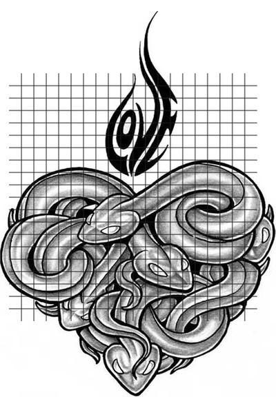 Tatfast Yılan 54 Geçici Dövme - Flash Tattoo