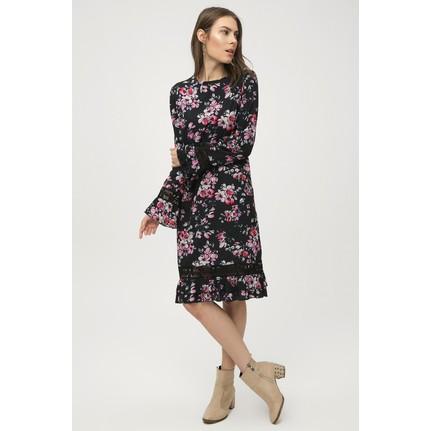 72c146586b017 New Laviva Lacivert Kadın Desenli Elbise Fiyatı