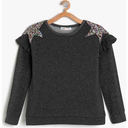 7555b46c43866 Koton Kız Çocuk Taş Detaylı Sweatshirt Fiyatı - Taksit Seçenekleri