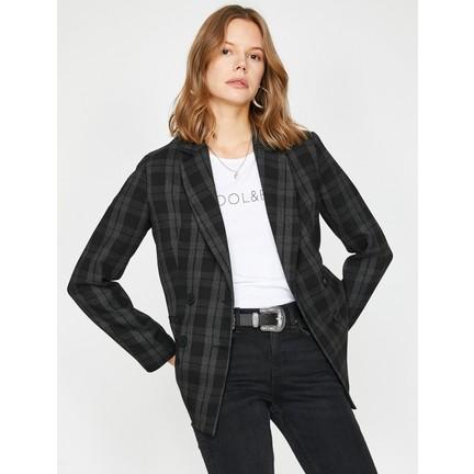 09278078f3056 Koton Kadın Kareli Ceket Fiyatı, Taksit Seçenekleri ile Satın Al