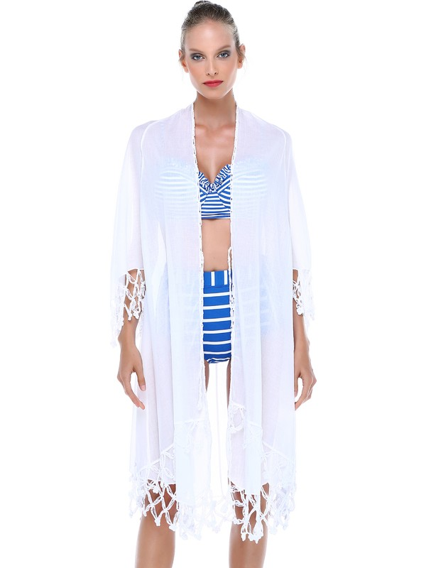 Qattan Plaj Elbiseli El İşi Pareo