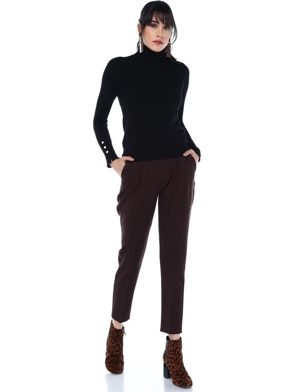 Sense 19017 Beli Lastikli Kumaş Pantolon