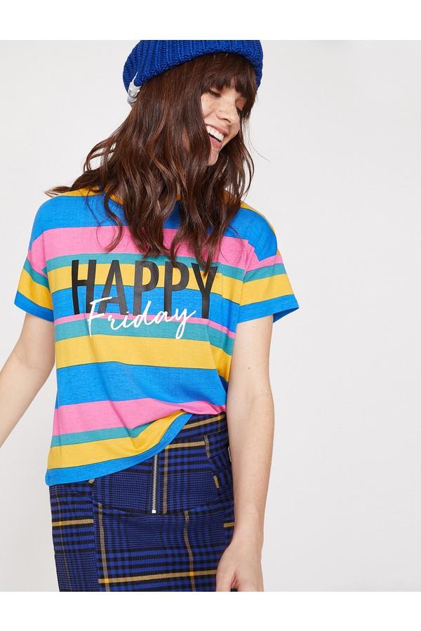 Women Cotton Stripe T-Shirt