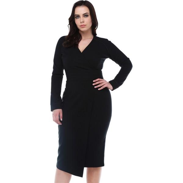 8acf37a17b244 B&S Line Siyah Beli Katlı Anvelop Elbise - 40 Fiyatları, Özellikleri ...
