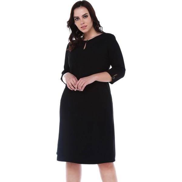 f6e1c468010e8 B&S Line Yakası Ve Kolları Düğmeli Siyah Elbise - 42 Fiyatları ...