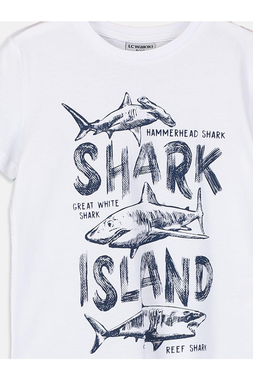 LC Waikiki Men's T-Shirt With Printed Details
