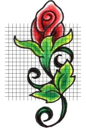 Tatfast Gül 563 Geçici Dövme - Flash Tattoo