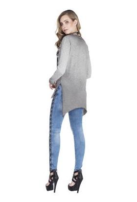 Cipo&Baxx WL170 Little Black İşlemeli İnce Bayan Sweatshirt