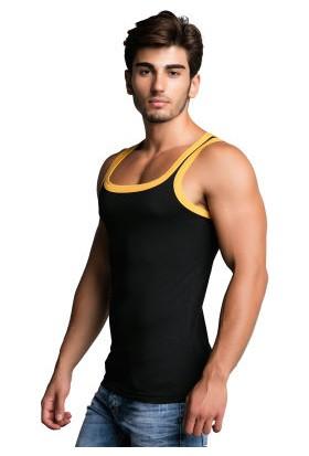 Cipo&Baxx CU104 Pamuklu Siyah Slim Fit Erkek Spor Atlet
