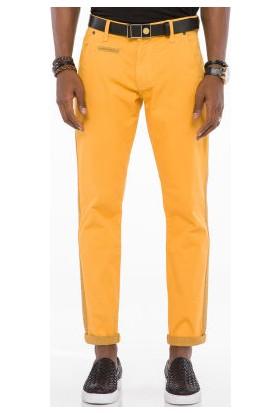 Cipo&Baxx CD511 Desenli Sarı Casual Erkek Pantolon