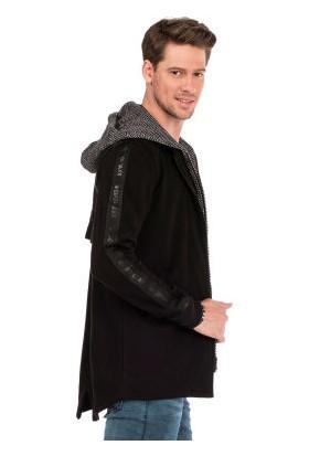 Cipo&Baxx CL305 Kapşonu Çıkan Fermuarlı Erkek Sweatshirt Ceket