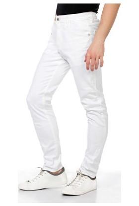 Cipo&Baxx CD319C Beyaz Slim Fit Dar Paça Erkek Kot Pantolon
