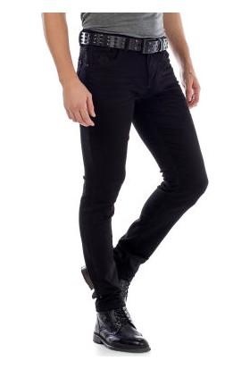 Cipo&Baxx CD319A Siyah Slim Fit Rahat Erkek Jean Kot Pantolon