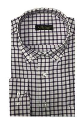 Atilla Özer 0494 Uzun Kol Klasik Erkek Gömlek