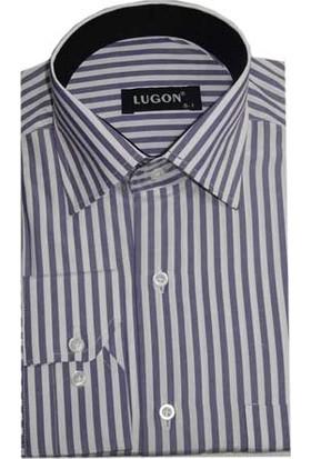 Lugon 0399 Klasik Kesim Uzun Kol Gömlek