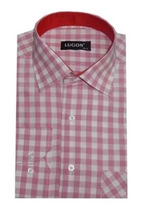 Lugon 0347 Klasik Kesim Uzun Kol Gömlek