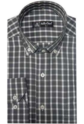 Atilla Özer 0346 Klasik Kesim Uzun Kol Gömlek