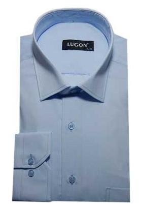 Lugon 0063 Uzun Kol Klasik Erkek Gömlek