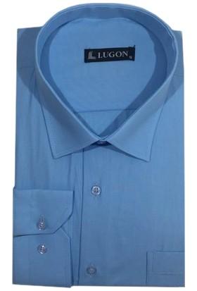Lugon Uzun Kol Klasik Battal Erkek Gömlek - 1515