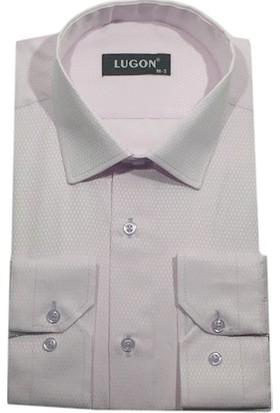 Lugon Uzun Kol Slim Fit Erkek Gömlek - 1376