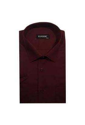 Lugon Kısa Kol Klasik Erkek Gömlek - 1368