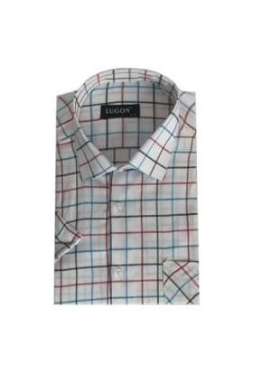Lugon Kısa Kol Klasik Erkek Gömlek - 1353