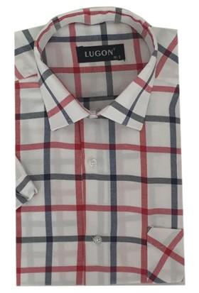 Lugon Kısa Kol Klasik Erkek Gömlek - 1351