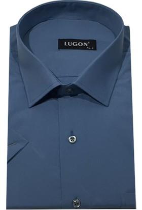 Lugon 01112 Kısa Kol Klasik Erkek Battal Gömlek