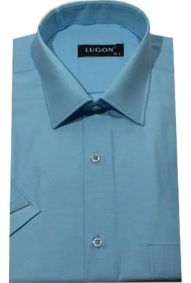 Lugon 01107 Kısa Kol Klasik Erkek Gömlek