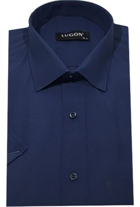 Lugon 01106 Kısa Kol Klasik Erkek Gömlek
