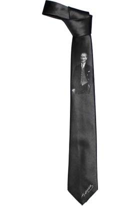 Metön Atatürk İmza Gri Kravat
