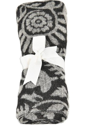 Dolce Bonita Otantik Maxi Kadın Şal 90 x 170 cm Krem - Siyah