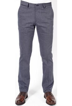 Jakamen Desenli Klasik Kalıp - Regular Fit Lacivert Spor Pantolon