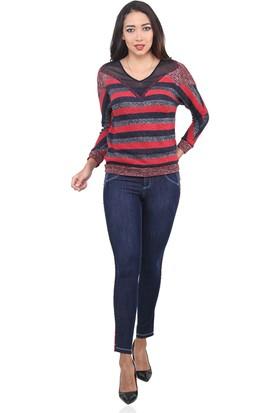 Dodona 3351 Tasarım Şık Kışlık Kot Pantolon
