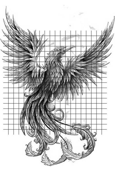 Tatfast Anka Kuşu 47 Geçici Dövme - Flash Tattoo