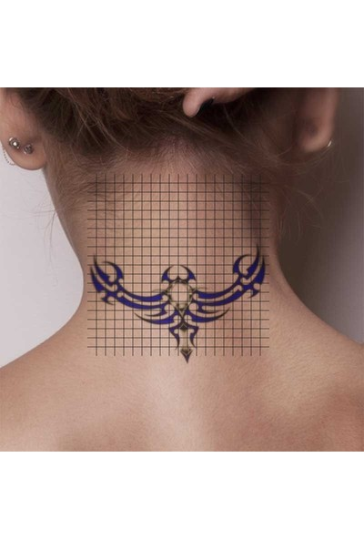 Tatfast Sırt 555 Geçici Dövme - Flash Tattoo