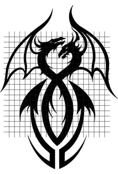 Tatfast Ejderha 95 Geçici Dövme - Flash Tattoo