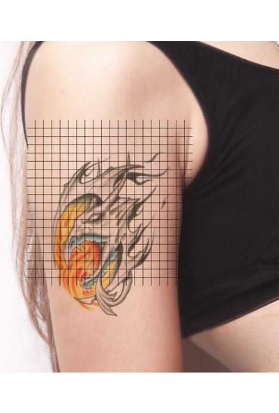 Tatfast Alev & Ateş 1100 Geçici Dövme - Flash Tattoo