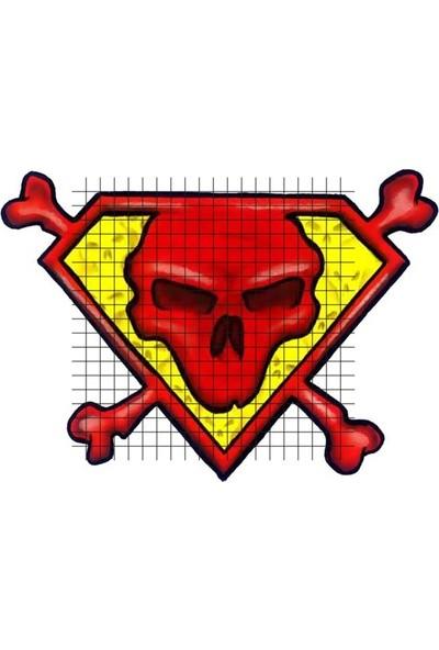 Tatfast Kafatası 359 Geçici Dövme - Flash Tattoo