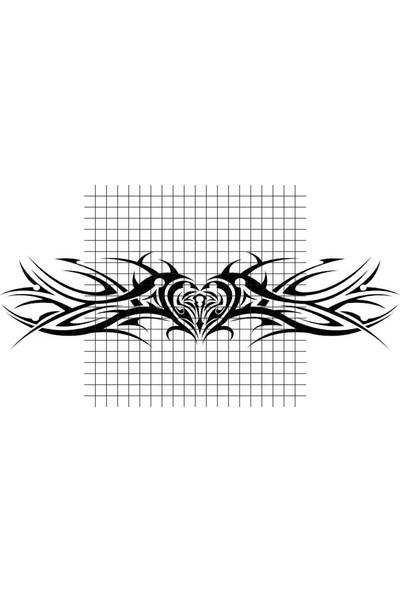 Tatfast Kalp 2811 Geçici Dövme - Flash Tattoo