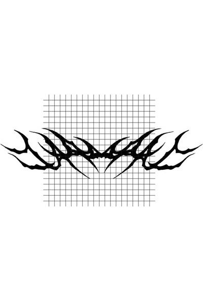 Tatfast Sırt 1389 Geçici Dövme - Flash Tattoo