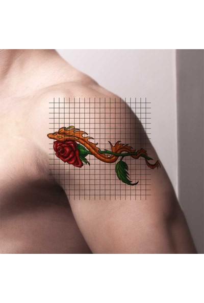 Tatfast Gül 675 Geçici Dövme - Flash Tattoo
