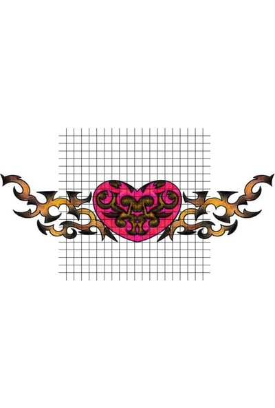 Tatfast Kalp 2884 Geçici Dövme - Flash Tattoo